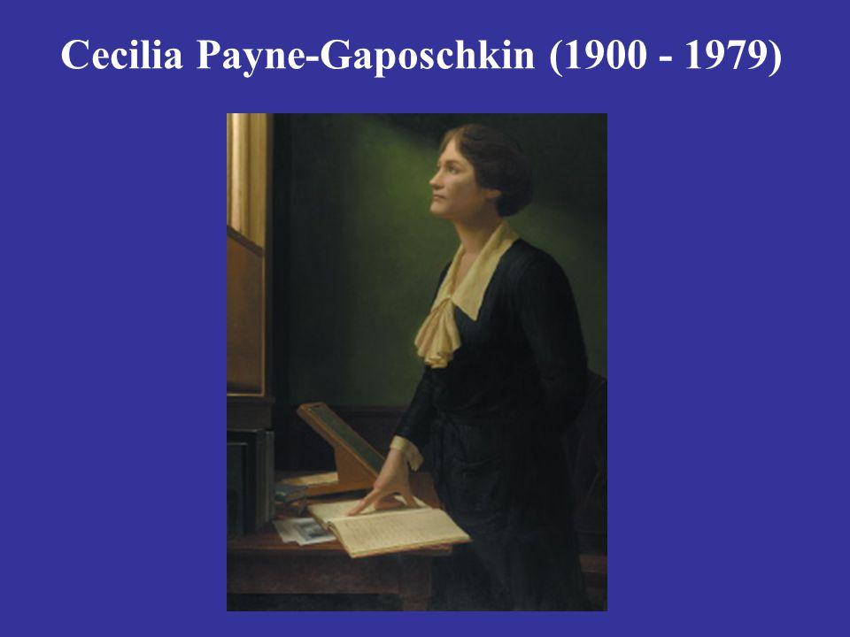Cecilia Payne-Gaposchkin (1900 - 1979)