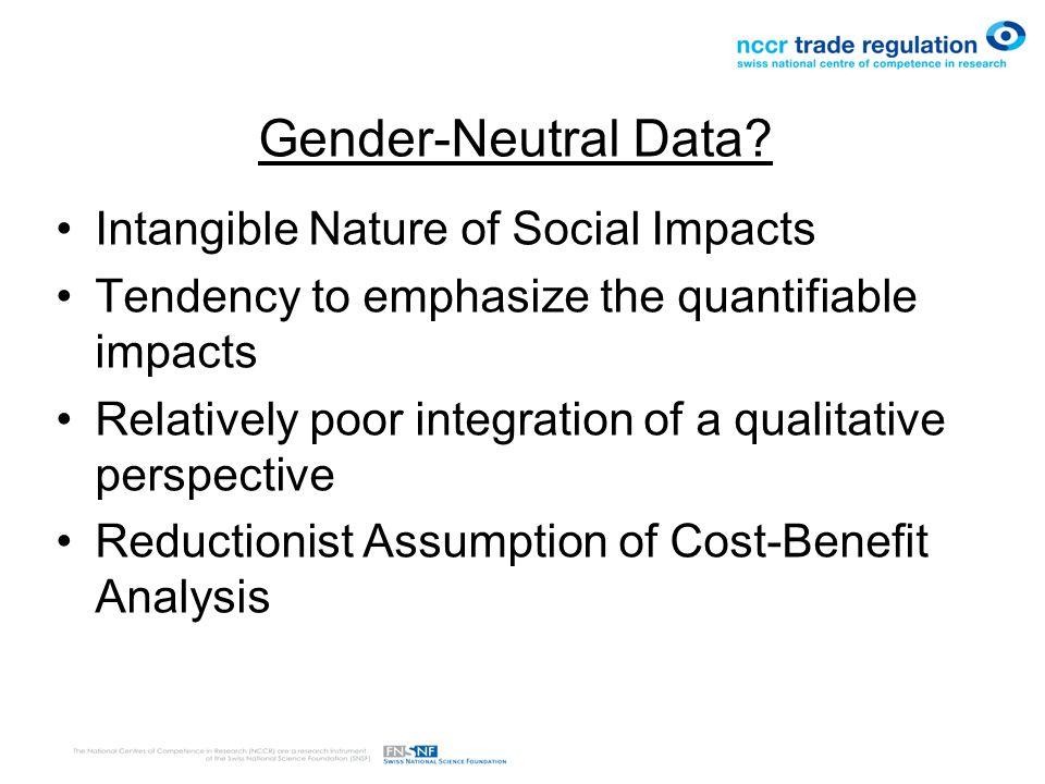 Gender-Neutral Data.