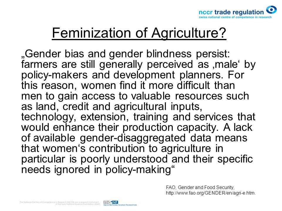 Feminization of Agriculture.