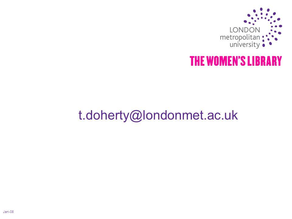 Jan-08 t.doherty@londonmet.ac.uk