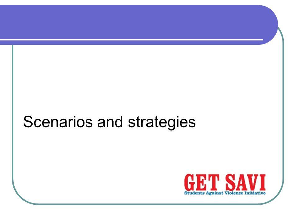 Scenarios and strategies