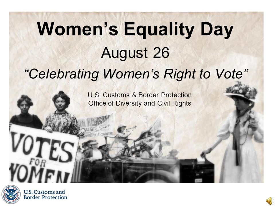 Women's Equality Day August 26 Celebrating Women's Right to Vote U.S.