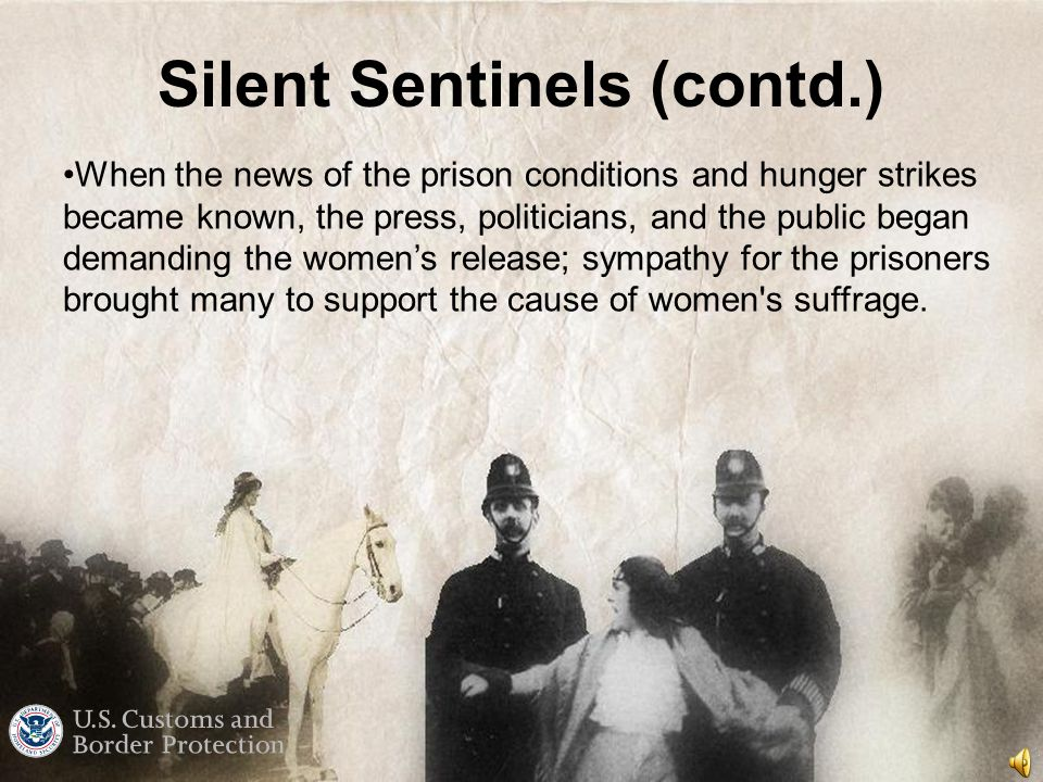 Silent Sentinels The National Women's Party organized the