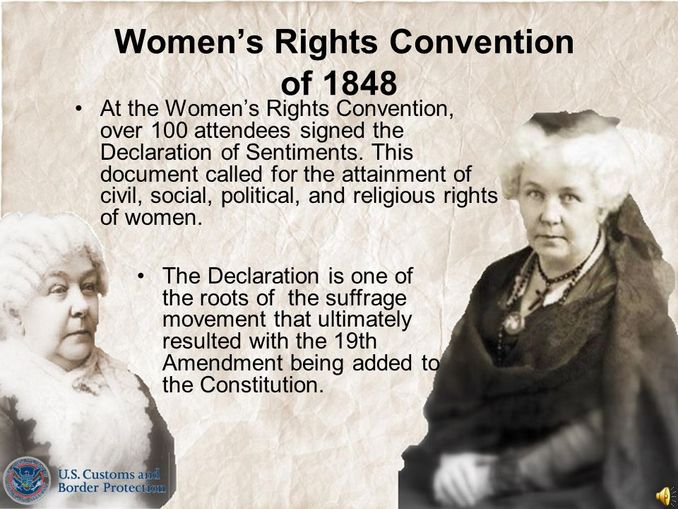 Elizabeth Cady Stanton (1815-1902) Elizabeth Stanton was the co- founder with Lucretia Mott of the 1848 Women's Rights Convention that was held in Sen