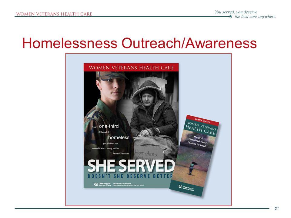 21 Homelessness Outreach/Awareness 21