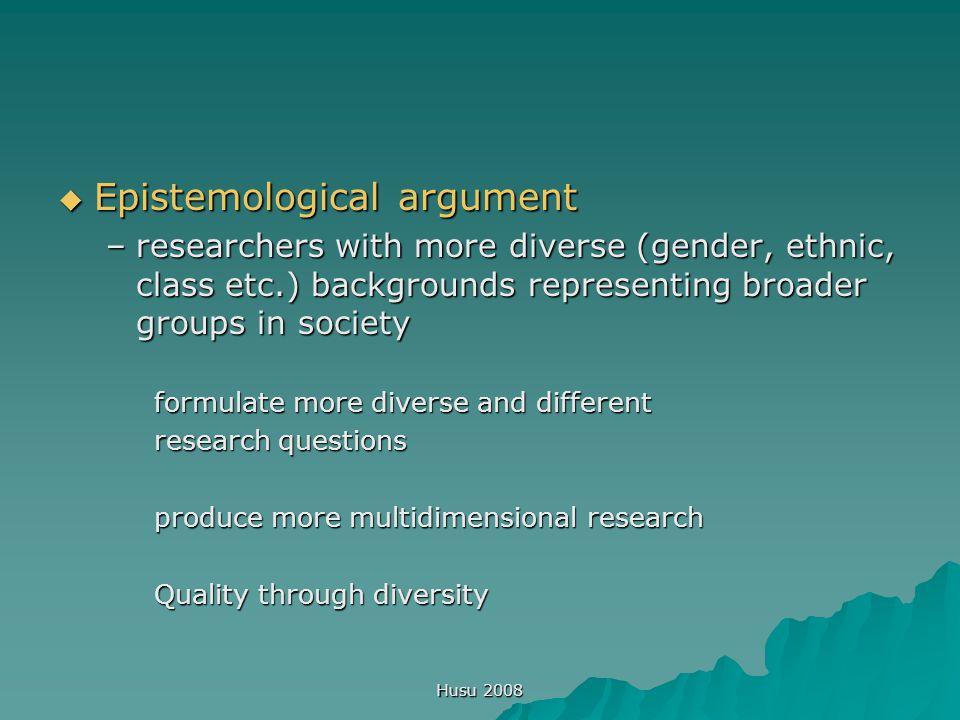 Husu 2008 Only women have gender.