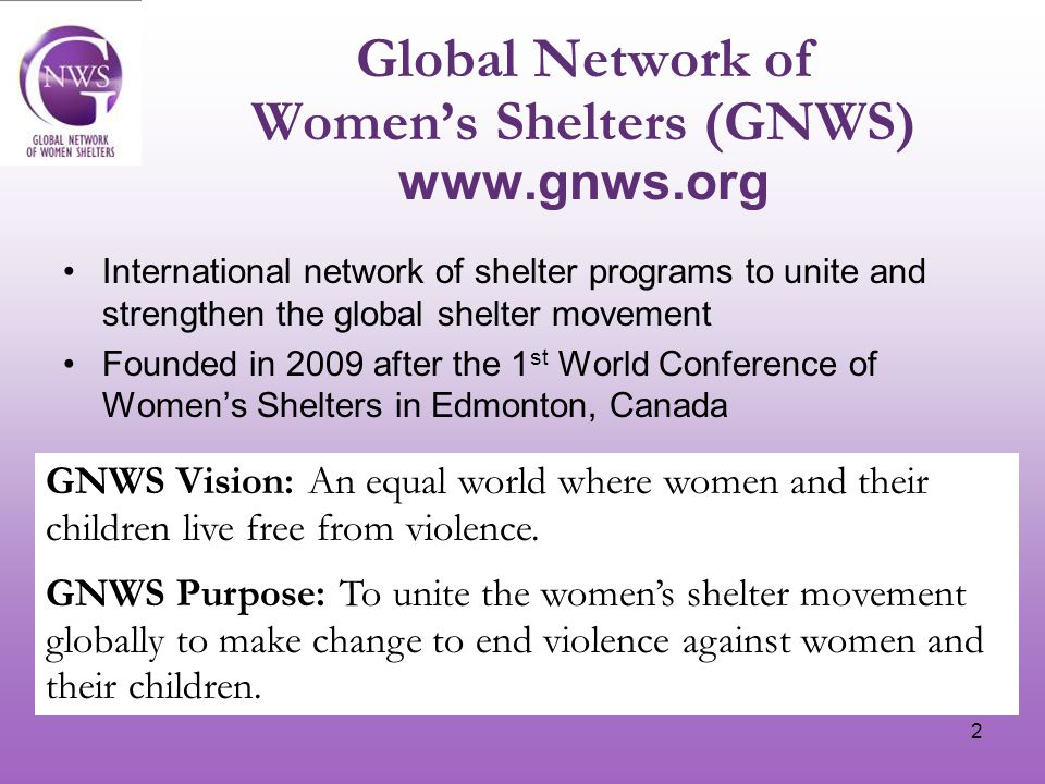 3 20 networks/organizations are part of the Interim Board 8 countries from Europe are on the Interim Board ArmeniaWomen's Rights Centre EuropeWAVE (Women Against Violence Europe) DenmarkDanner EnglandWomen's Aid IcelandStigamot ItalyWomen s Network Against Violence Italy NetherlandsFederatie Opvang Sweden Swedish Association of Women's Shelters and Young Women's Empowerment Centres + 12 organizations from Australia, Canada, Israel, Mexico, Nepal, Pakistan, Rwanda, USA, Vietnam