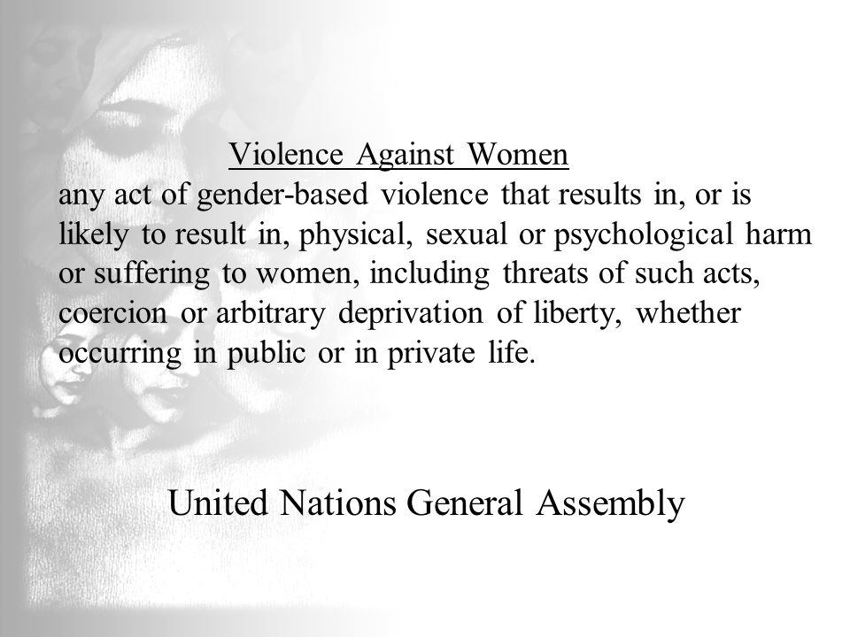 Gendered Violence Violence against women must be understood in context of socially constructed notions of gender Male violence is related to power and patriarchal dominance Female victimization is related to women's place in society; her social, economic, and political power