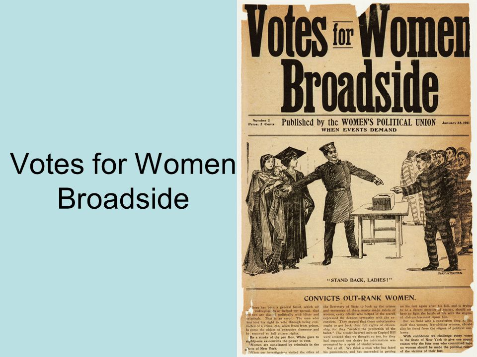 Votes for Women Broadside
