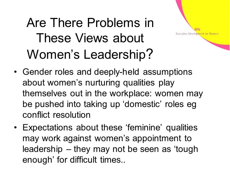Are There Problems in These Views about Women's Leadership .