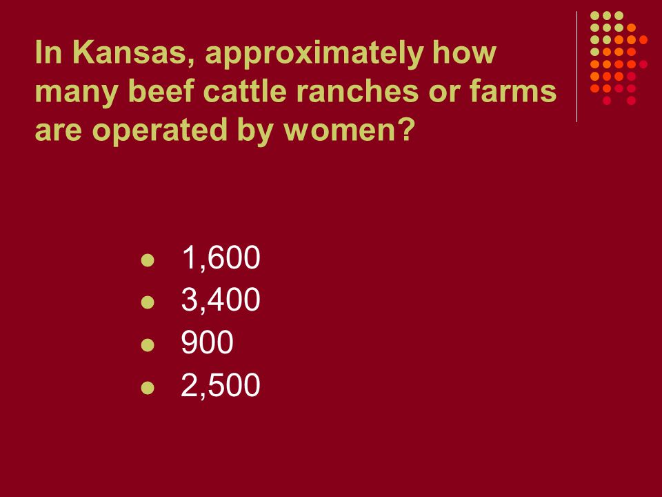 In Kansas, approximately how many beef cattle ranches or farms are operated by women.