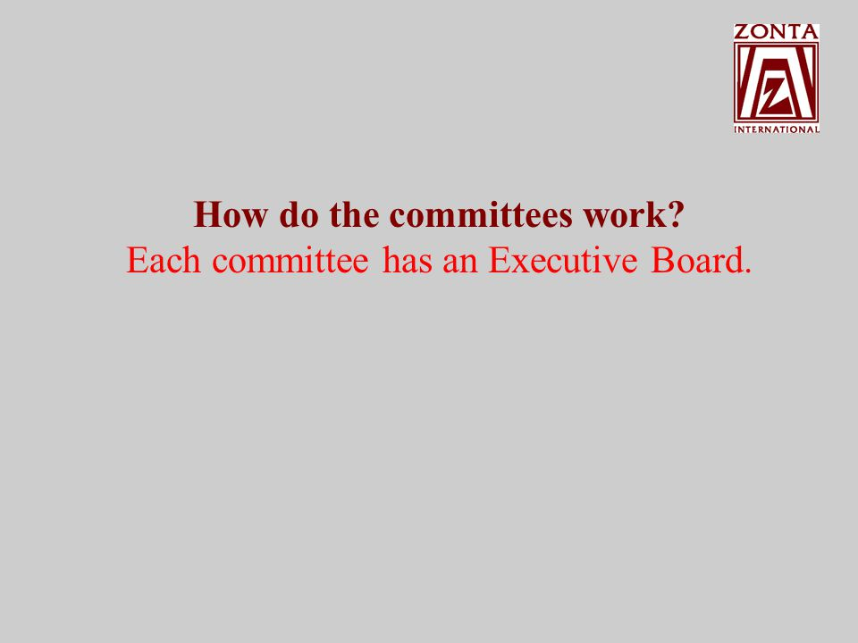 How do the committees work