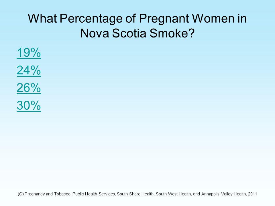What Percentage of Pregnant Women in Nova Scotia Smoke.