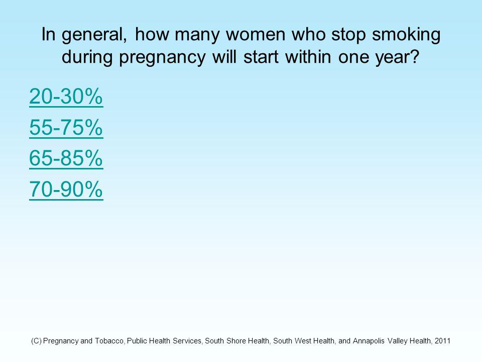 What Percentage of Pregnant Women Ages 17-18 in Nova Scotia Smoke.