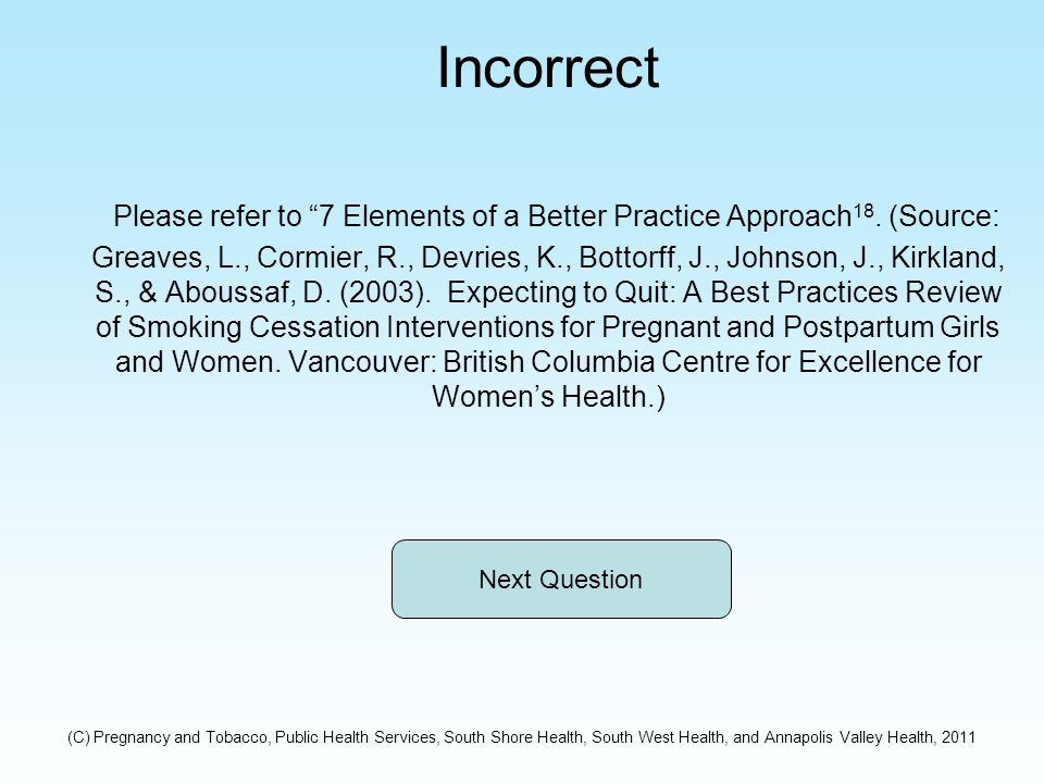 Incorrect Please refer to 7 Elements of a Better Practice Approach 18.