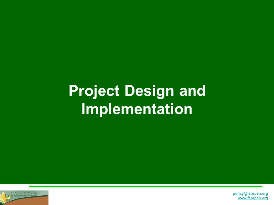 Project Design and Implementation