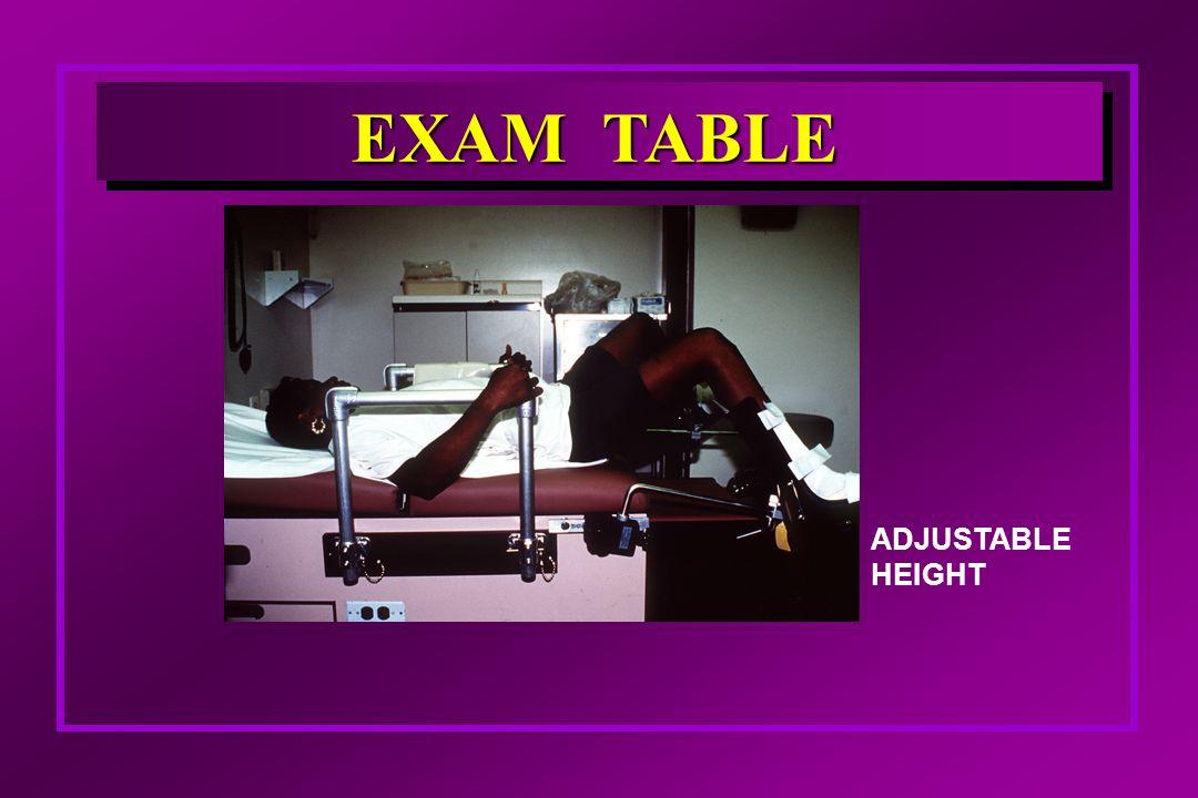 ADJUSTABLE HEIGHT EXAM TABLE