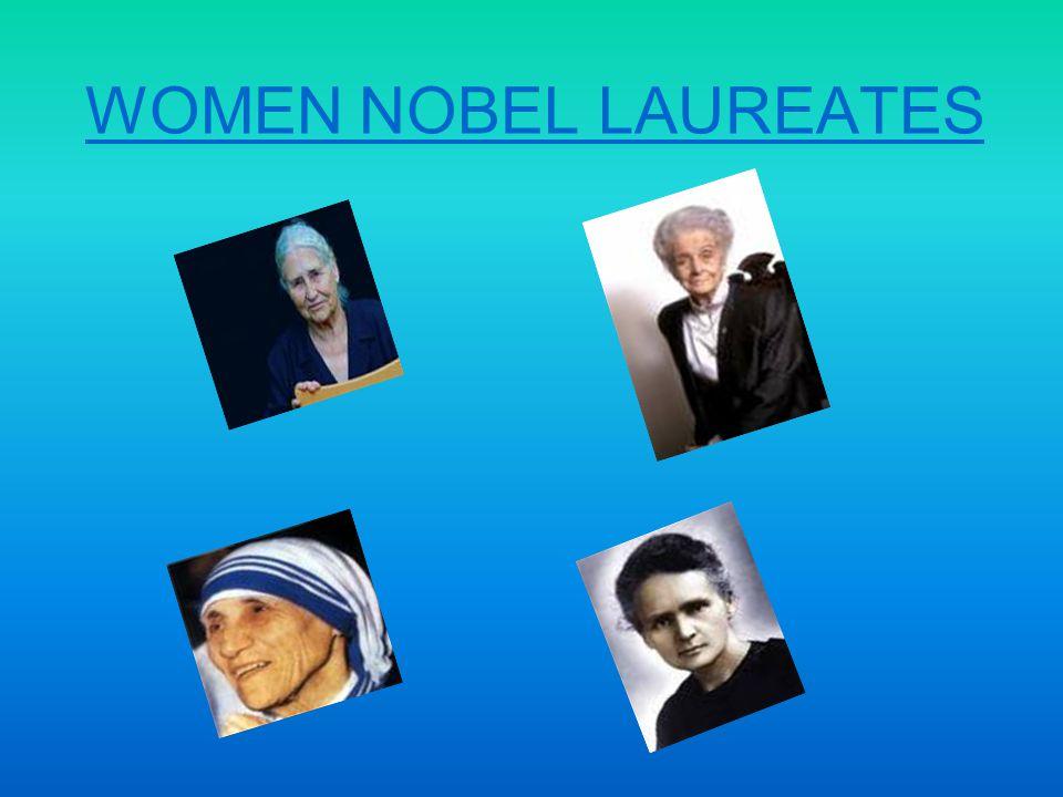 WOMEN NOBEL LAUREATES