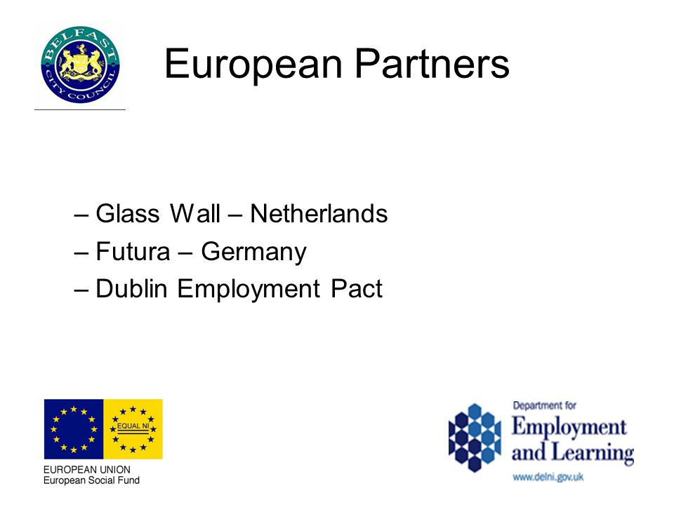 European Partners –Glass Wall – Netherlands –Futura – Germany –Dublin Employment Pact