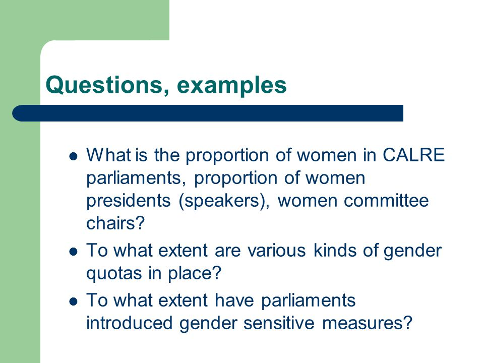 Gender Balance in CALRE Parliaments and EU-28