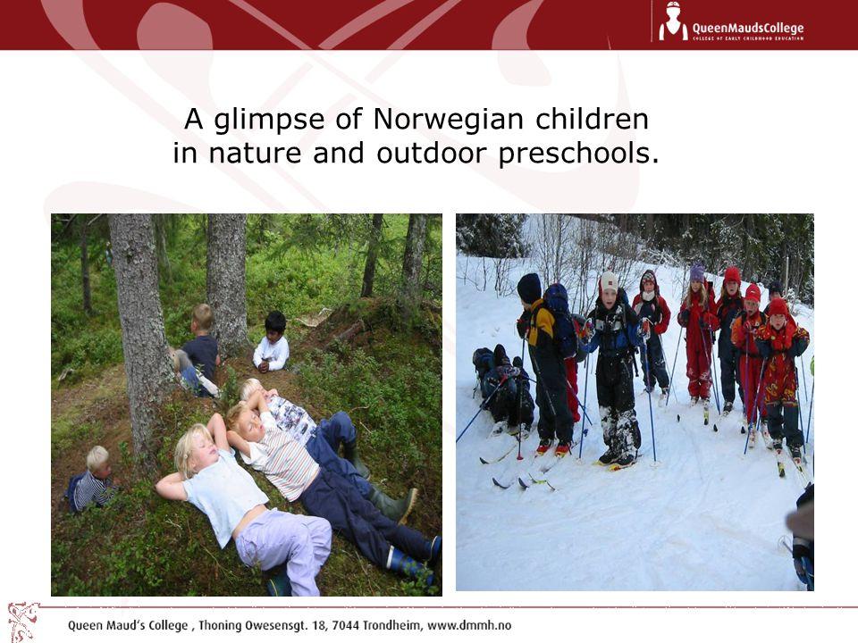A glimpse of Norwegian children in nature and outdoor preschools.