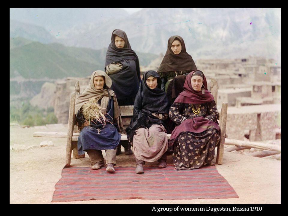 A group of women in Dagestan, Russia 1910
