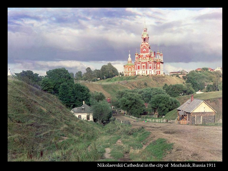 Nikolaevskii Cathedral in the city of Mozhaisk, Russia 1911