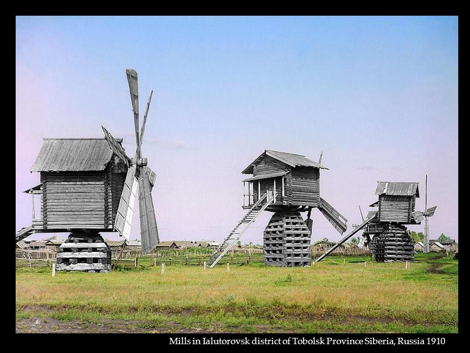 Mills in Ialutorovsk district of Tobolsk Province Siberia, Russia 1910