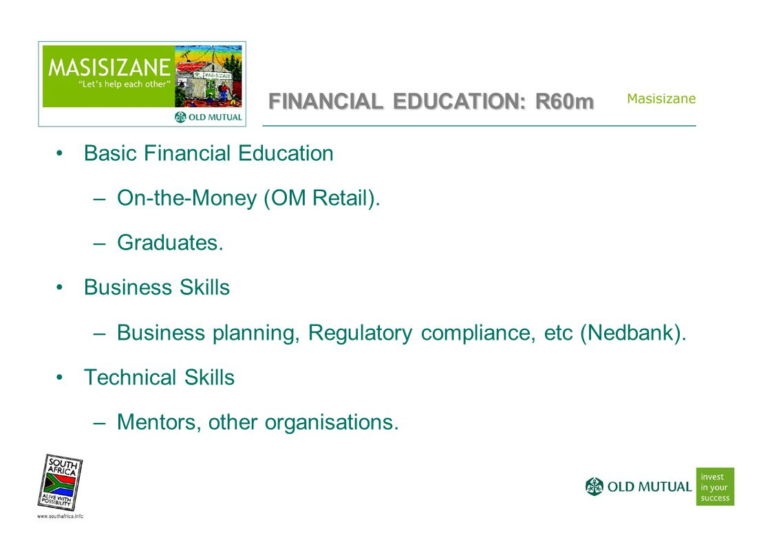 Basic Financial Education –On-the-Money (OM Retail).