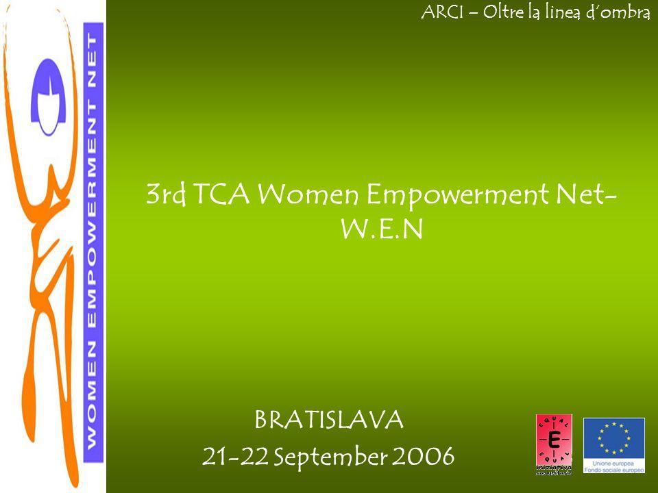 ARCI – Oltre la linea d'ombra BRATISLAVA 21-22 September 2006 3rd TCA Women Empowerment Net- W.E.N