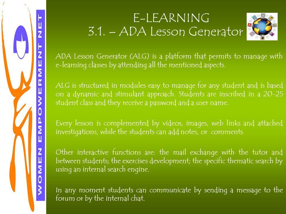 E-LEARNING 3.1.