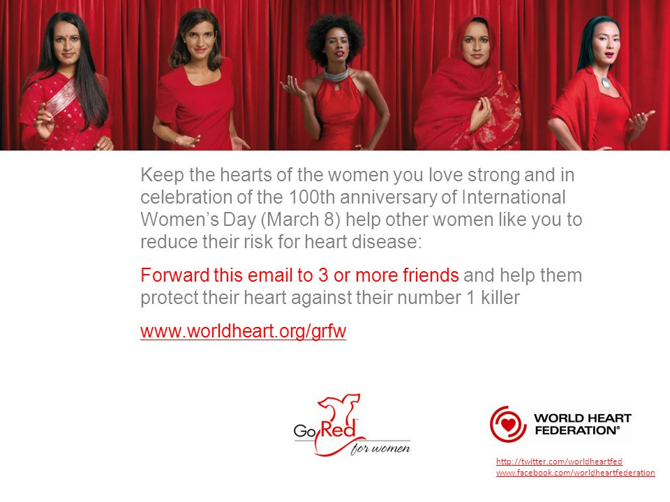 Keep the hearts of the women you love strong and in celebration of the 100th anniversary of International Women's Day (March 8) help other women like