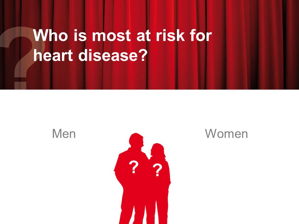 Men and women are equally at risk