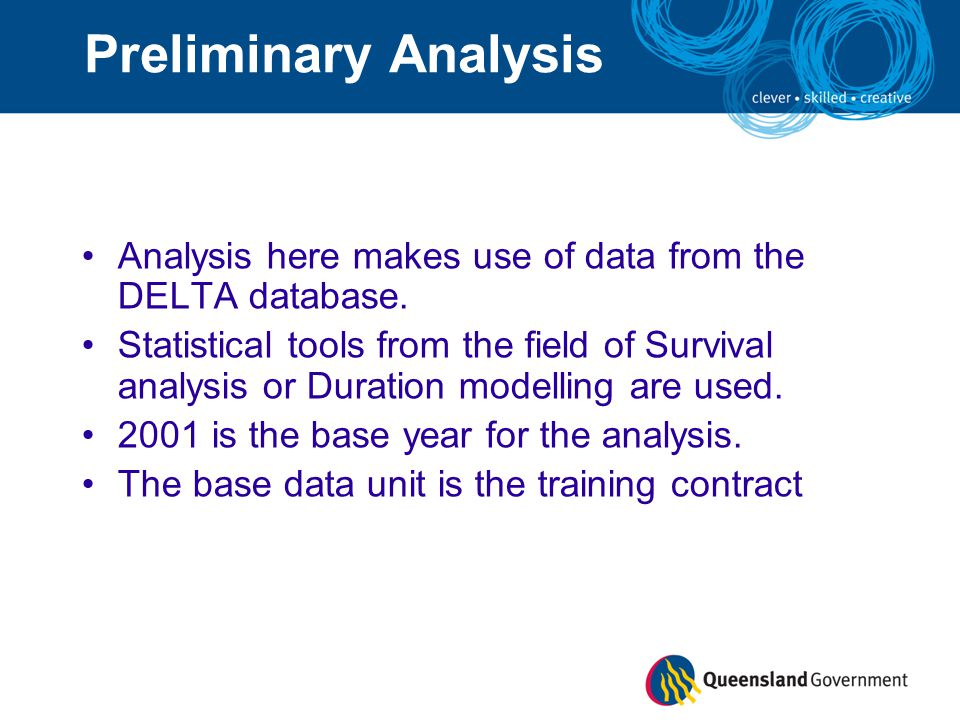 Preliminary Analysis Analysis here makes use of data from the DELTA database.
