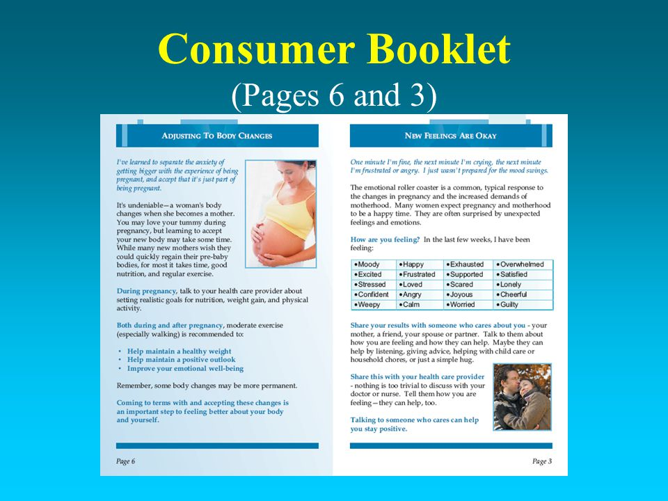 Consumer Booklet (Pages 6 and 3)