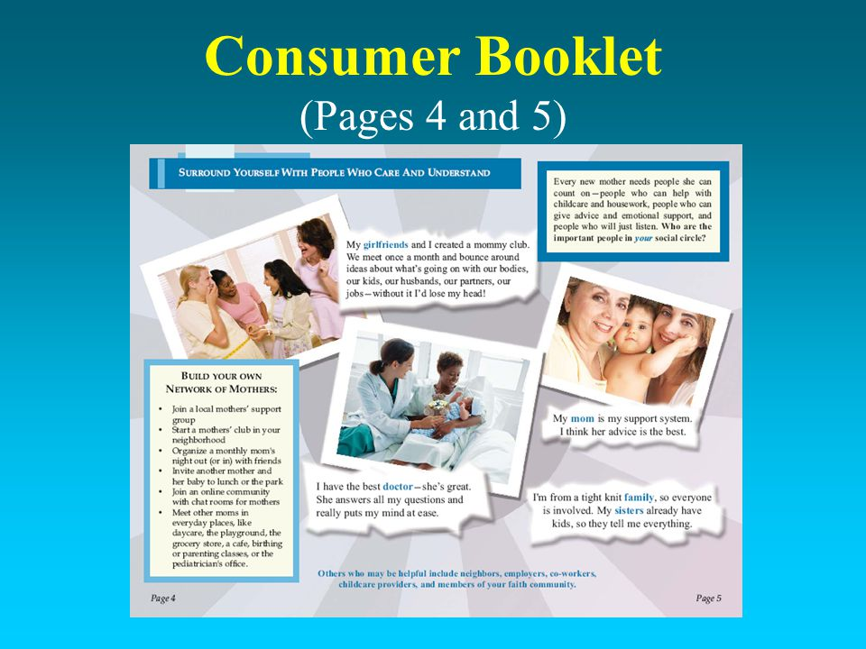 Consumer Booklet (Pages 4 and 5)
