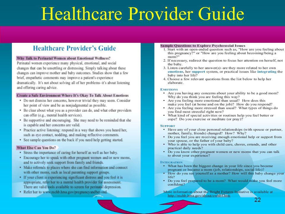 22 Healthcare Provider Guide