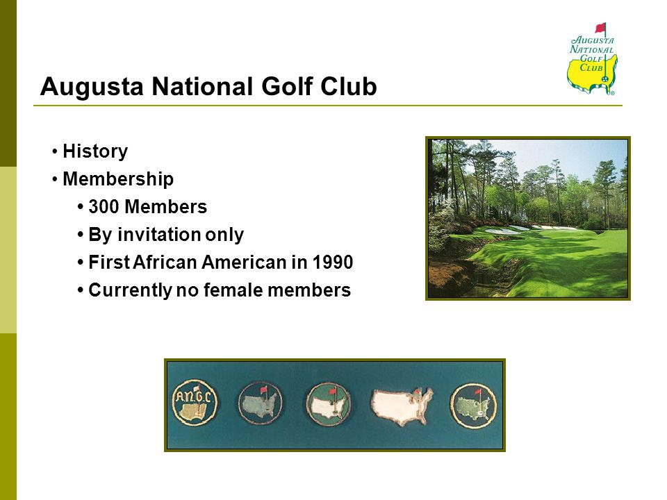 The Professional Golfers' Association Founded in 1916 Largest sports organization in the world Conducts 40 annual tournaments Requires host clubs to have diversity policies The Masters is not an official PGA event