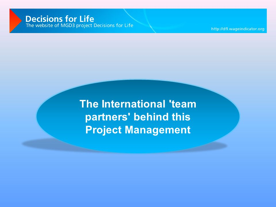 The International team partners behind this Project Management
