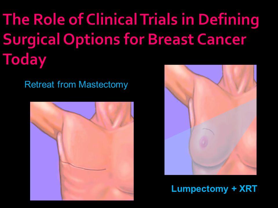 Retreat from Mastectomy Lumpectomy + XRT