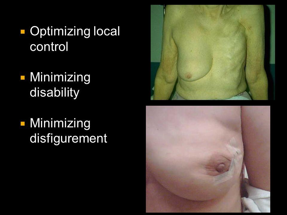 Optimizing local control  Minimizing disability  Minimizing disfigurement