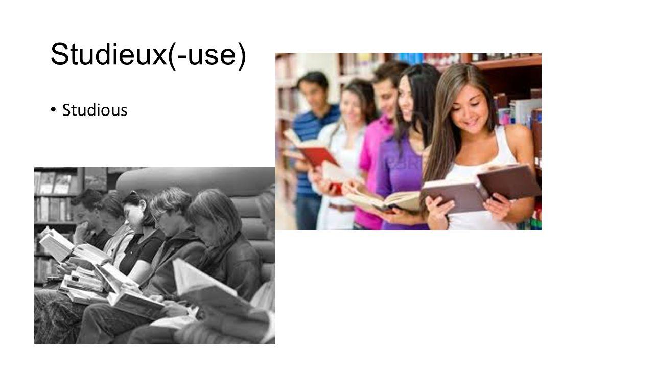 Studieux(-use) Studious