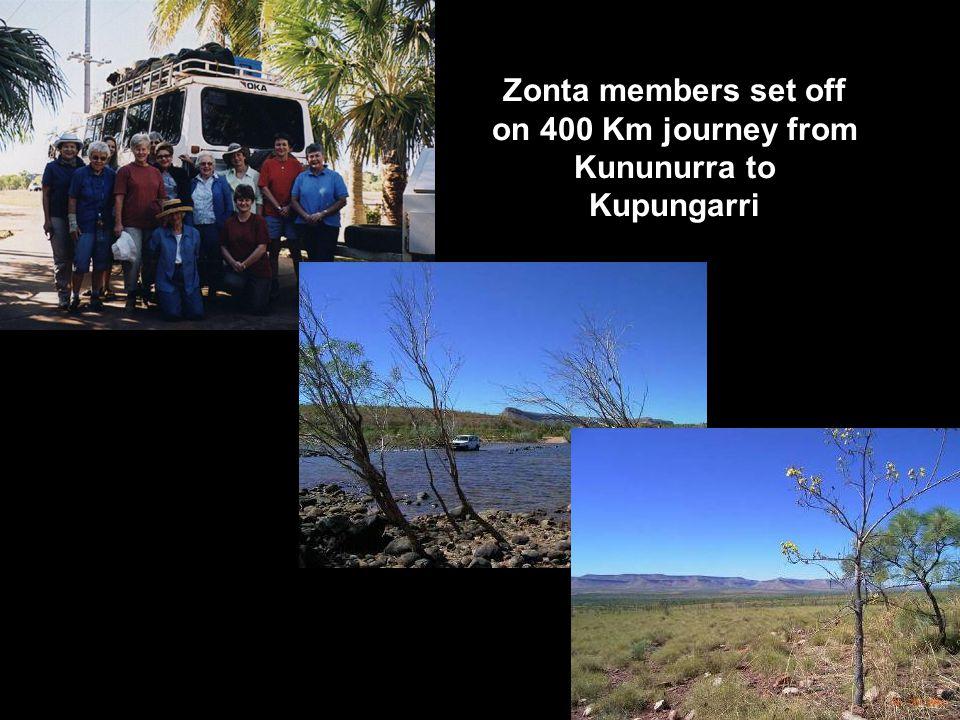 Zonta members set off on 400 Km journey from Kununurra to Kupungarri