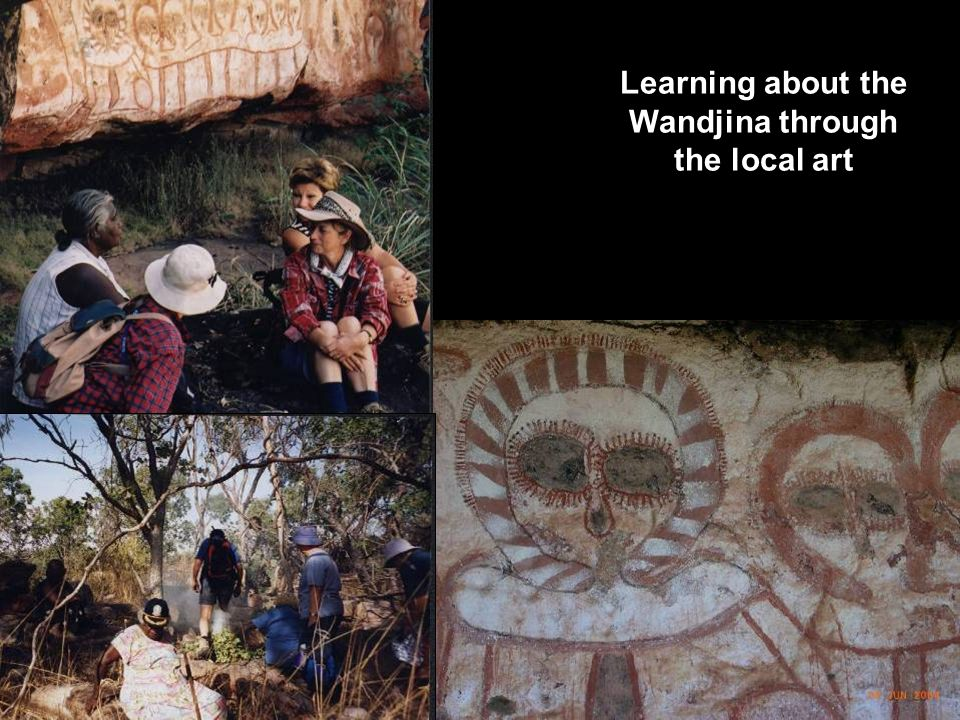 Learning about the Wandjina through the local art
