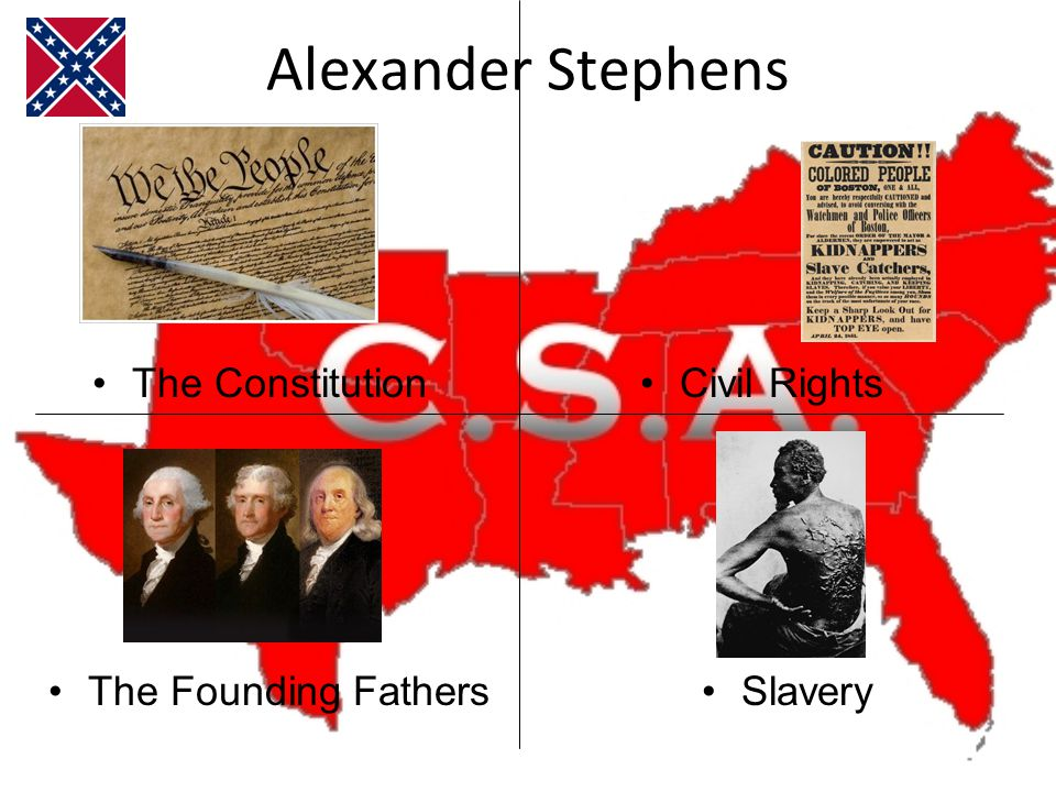 Alexander Stephens Civil RightsThe Constitution The Founding FathersSlavery