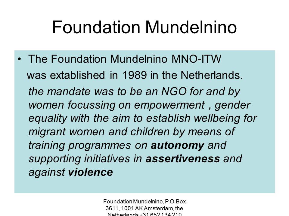 Foundation Mundelnino, P.O.Box 3611, 1001 AK Amsterdam, the Netherlands +31 652 134 210 Clients Turkey