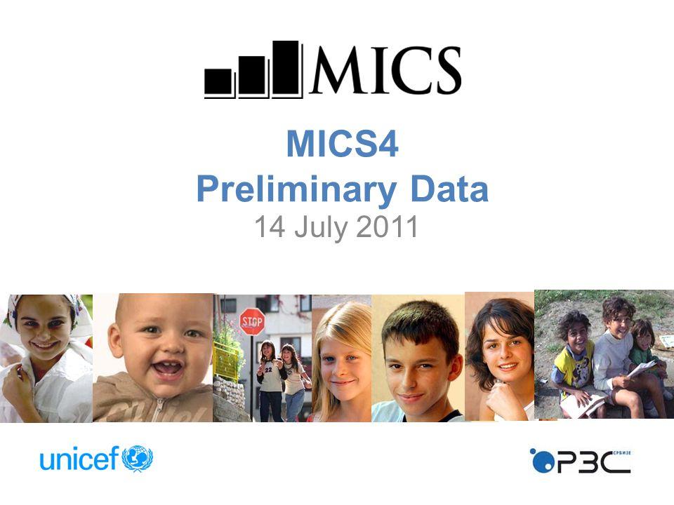 MICS4 Preliminary Data 14 July 2011
