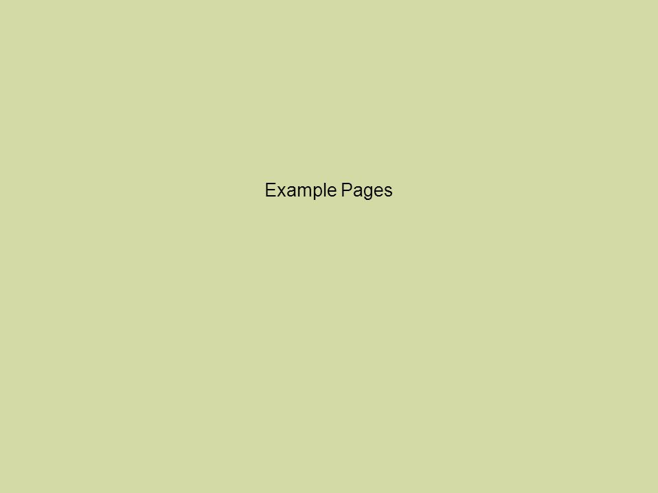 Example Pages
