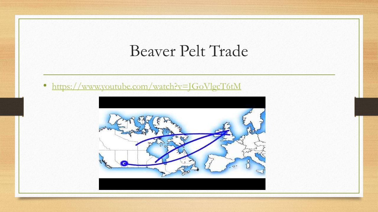 Beaver Pelt Trade https://www.youtube.com/watch?v=JGoVlgcT6tM