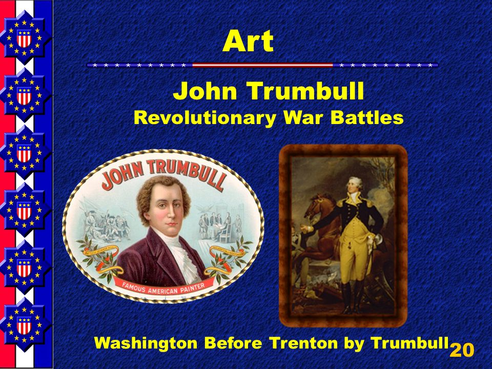 20 Art John Trumbull Revolutionary War Battles Washington Before Trenton by Trumbull